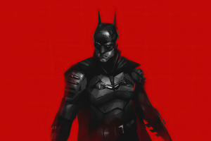 The Batman 2021 Red Wallpaper