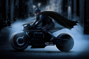 The Batman Batcycle 2021
