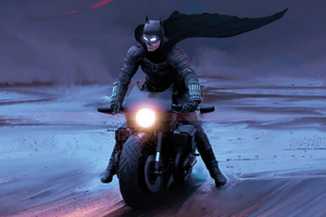 The Batman Batcycle 4k Wallpaper