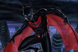 The Batman Beyond 8k Wallpaper