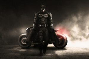 The Batman Bruce Wayne With Bike 4k
