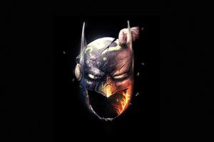 The Batman Dark Minimal 4k Wallpaper