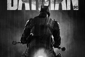 The Batman Dc Monochrome Poster 4k Wallpaper