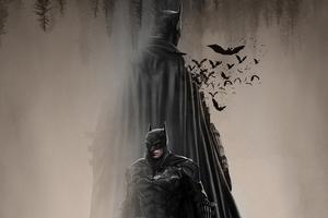 The Batman In Dust 4k Wallpaper