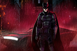 The Batman Night Cyberpunk Neon 4k