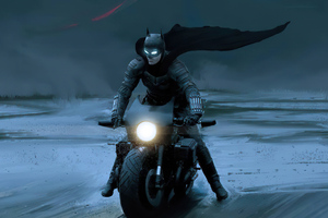 The Batman On Batcycle 4k Wallpaper
