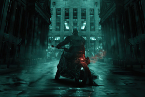 The Batman On Bike 2021 Wallpaper
