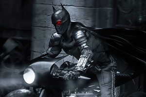 The Batman On Bike 4k