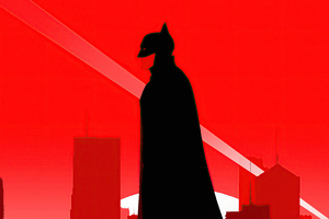 The Batman Red Background