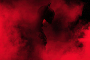 The Batman Red Theme Wallpaper