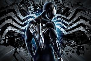 The Black Suit Spiderman 4k Wallpaper