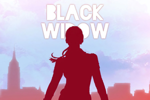 The Black Widow Minimal Art 4k Wallpaper