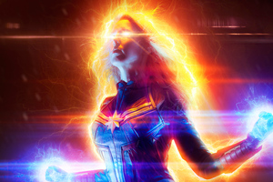 The Captain Marvel Cosplsy Wallpaper