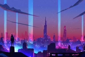 The City Of Neon 4k Wallpaper