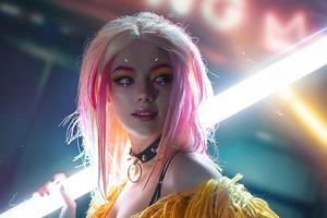 The Cyberpunk Girl Cosplay 4k