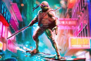 The Cyberpunk Ninja Turtle 5k Wallpaper