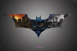 The Dark Knight Bat Logo 5k