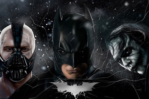 The Dark Knight Batman Joker Bane 5k Wallpaper