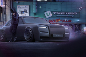 The Dark Rolls Royce 4k Wallpaper