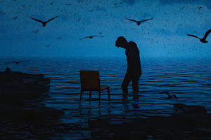 The Darkness Of Loneliness Wallpaper