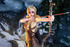 The Elder Scrolls V Skyrim Cosplay Wallpaper