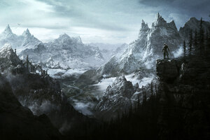 The Elder Scrolls V Skyrim Vista Wallpaper