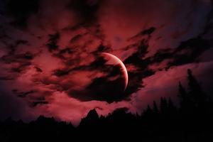 The Elder Scrools V Skyrim Red Moon Wallpaper