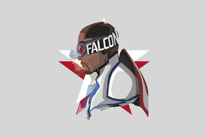 The Falcon And The Winter Soldier Minimal White 5k Wallpaper
