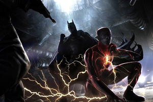 The Flash And Batman Wallpaper