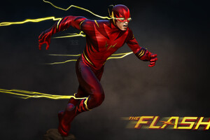 The Flash Barry Allen Art Wallpaper