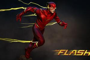 The Flash Barry Allen Art