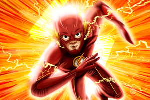 The Flash Illustration 4k