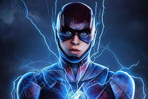 The Flash Lightning 4k Wallpaper