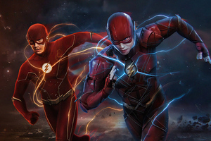 The Flash Of Two Worlds 5k Wallpaper