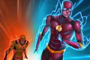 The Flash Vs Reverse Flash 4k Wallpaper