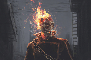The Ghost Rider Flame Wallpaper