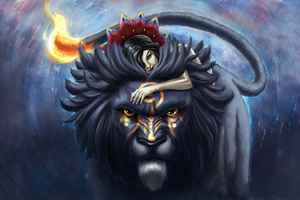 The Girl And The Lion 5k Wallpaper