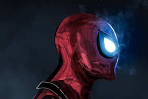 The Glowing Eyes Spiderman 4k