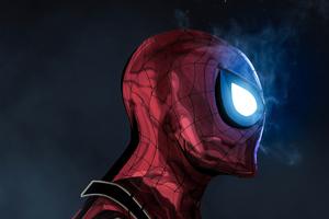 The Glowing Eyes Spiderman 4k Wallpaper