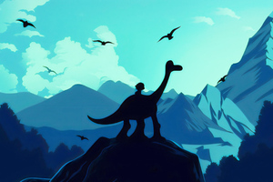 The Good Dinosaur Illustration Wallpaper