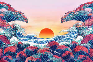 The Great Wave Off Kanagawa 5k