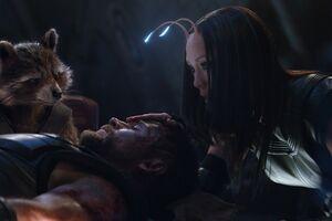 The Guardians Meet An Avenger Rocket Raccoon And Mantis In Avengers Infinity War 2018