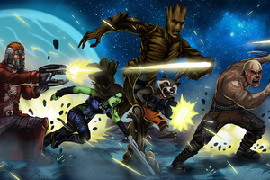 The Guardians Of The Galaxy Art