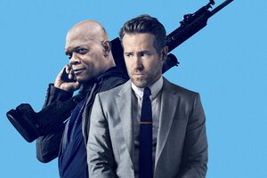 The Hitmans Bodyguard Ryan Reynolds And Samuel L Jackson Wallpaper