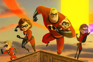 The Incredibles 2 Team Up Wallpaper