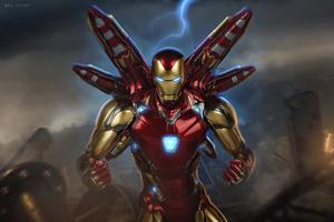The Iron Man Mark 85 4k