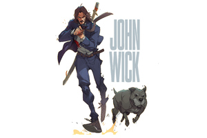 The John Wick Artwork 4k Wallpaper