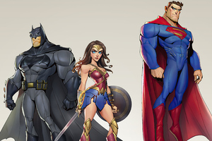The Justice League Heroes Cartoons Minimal 4k