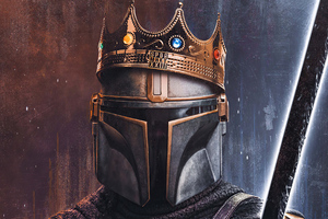 The King Of Mandalorian 4k Wallpaper