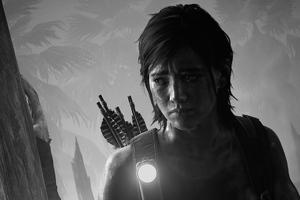 The Last Of Us Monochrome 4k Wallpaper